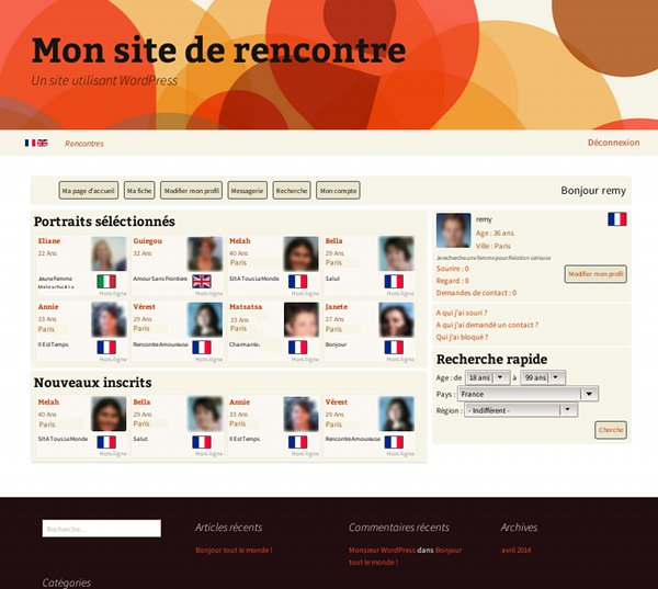 Site de rencontre wordpress