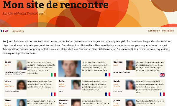Site rencontre wordpress