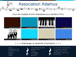 Cr�ation d'un site internet vitrine pour une association musicale